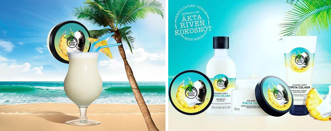 pina colada the body shop