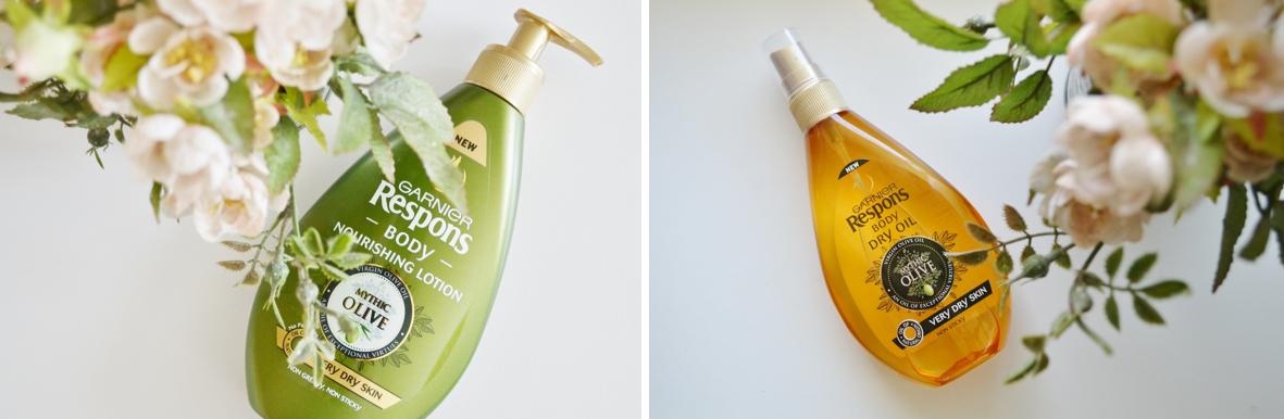 Garnier Respons – mythic olive body lotion og olie