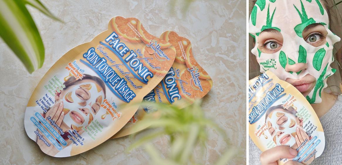 sheetmaske med appelsin 5 minutter til opfrisket hud