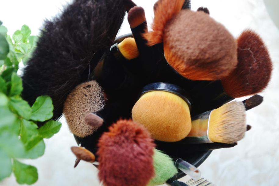 rengøring af makeupbørster