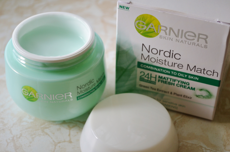 garnier nordic moisture match 24h mattifying fresh cream
