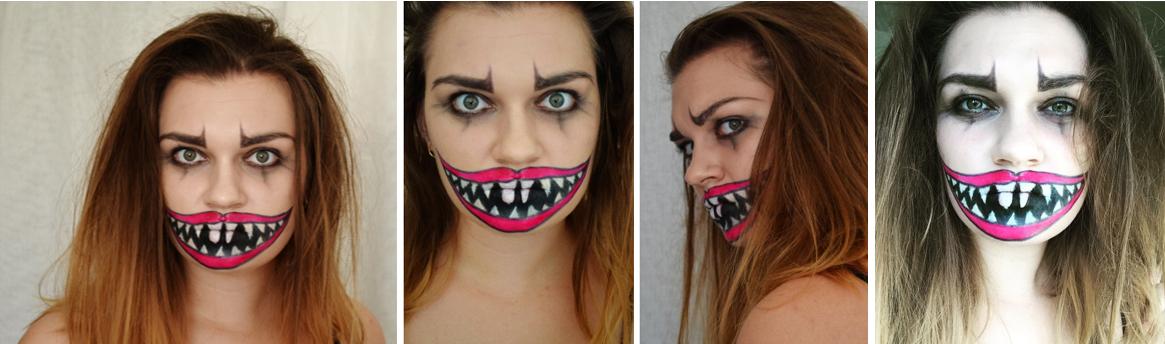 halloween makeup klovn