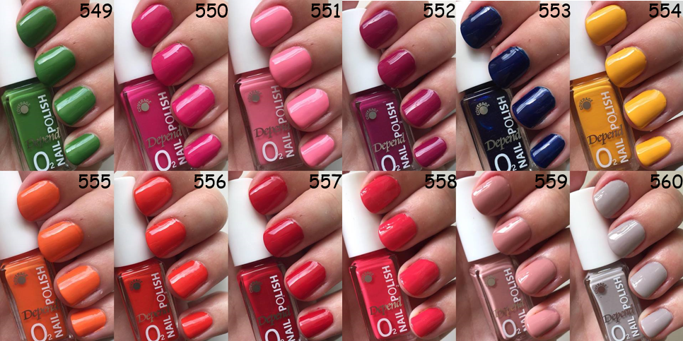 depend sommer 2018 6 spotted in line swatches