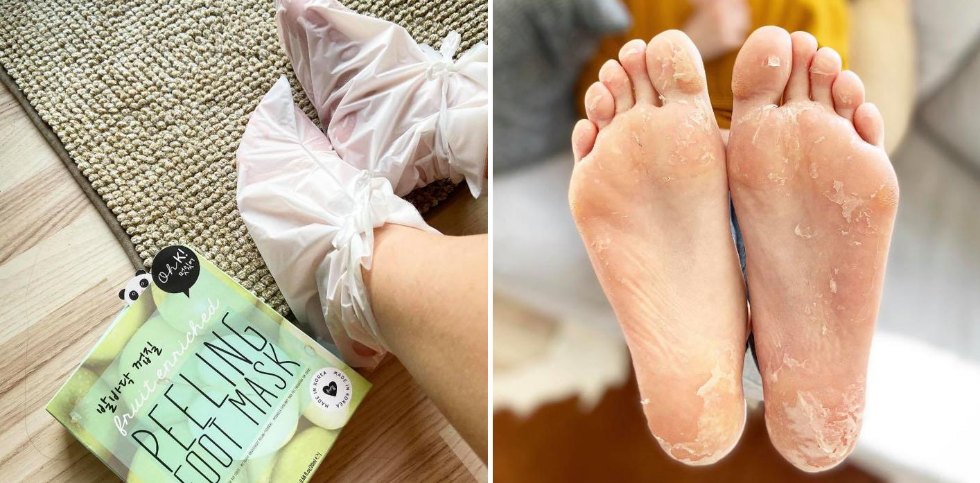 oh k! peeling foot mask 3